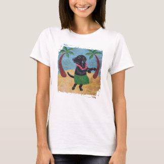 アロハ黒いラブラドールのグランジなTシャツ Tシャツ