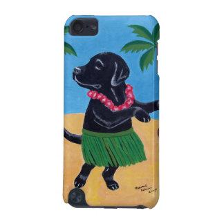アロハ黒いラブラドールの絵画 iPod TOUCH 5G ケース