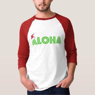 """""""アロハ""""クリスマスの人の3/4枚の袖のRAGLANのワイシャツ Tシャツ"""