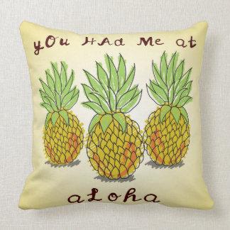 アロハ-パイナップル枕で私がありました クッション