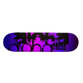 アロハ; 鮮やかなすみれ色の青およびマゼンタ 18.7CM ミニスケートボードデッキ