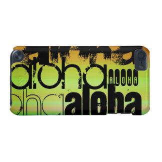 アロハ; 鮮やかな緑、オレンジ、及び黄色 iPod TOUCH 5G ケース