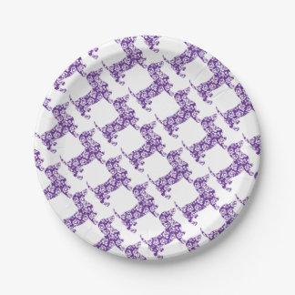 アロハDoxie紫色 ペーパープレート