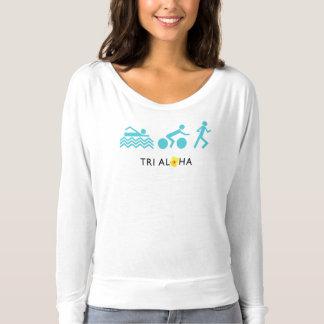 アロハFlowyの長袖のTシャツと三 Tシャツ