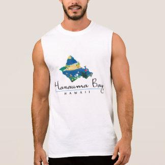 アロハHanauma湾のハワイのカメ 袖なしシャツ