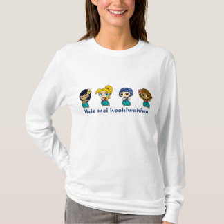 """""""アロハLtの青または青の蜂蜜""""の女性フード付きスウェットシャツ Tシャツ"""