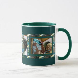 アワビおよび海の花びらの茶器保温カバーのマグ2 マグカップ