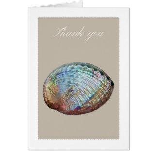 アワビの貝のサンキューカード カード
