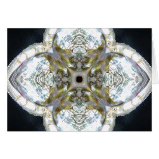 アワビの貝の十字2013年1月 カード