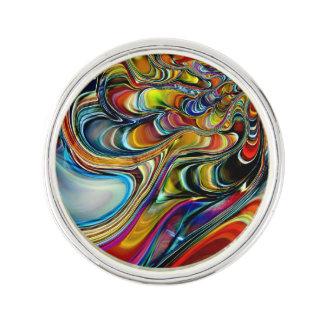 アワビの貝の抽象芸術 ラペルピン