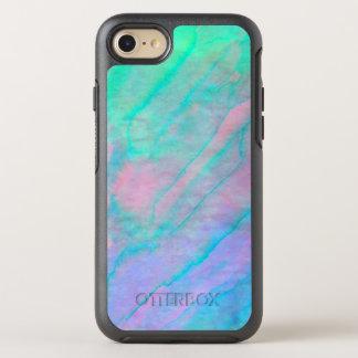 アワビの貝の水彩画の真珠母の石 オッターボックスシンメトリーiPhone 8/7 ケース