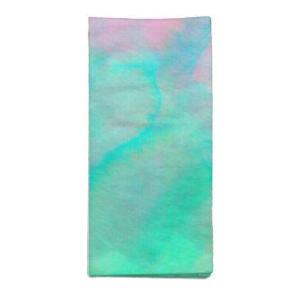 アワビの貝の水彩画の真珠母の石 ナプキンクロス