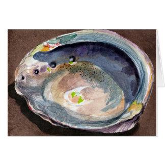 アワビの貝カード カード