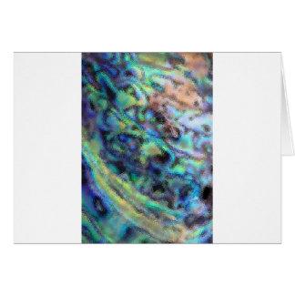 アワビのpauaの貝ガラスの質 カード