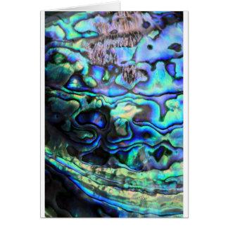 アワビのpauaの貝 カード