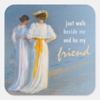 アンおよびMarie CC0152 Krøyerの友情 スクエアシール