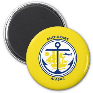 アンカレッジ都市アラスカの旗米国アメリカs マグネット