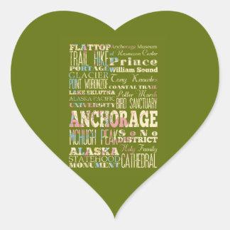 アンカレッジ、アラスカの魅力及び有名な場所 ハートシール
