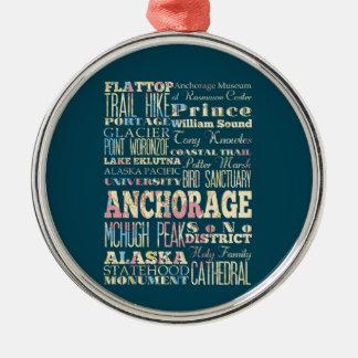 アンカレッジ、アラスカの魅力及び有名な場所 メタルオーナメント