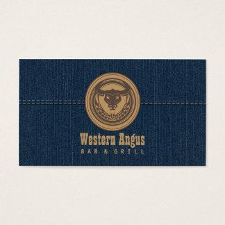 アンガスの西部のバー及びグリルの飲食業カード 名刺