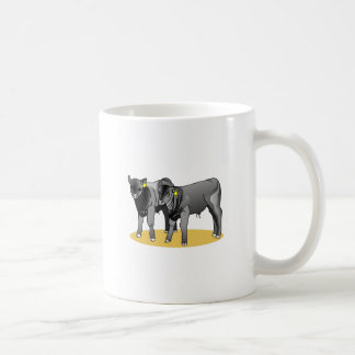アンガスの黒い子牛 コーヒーマグカップ
