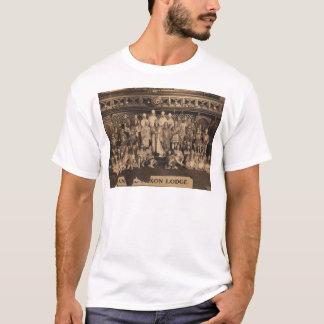 アングロサクソンロッジのフリーメーソン会員のポートレート Tシャツ