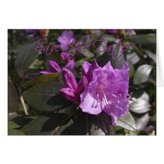 アンコールツツジの花。  日付を救って下さい カード