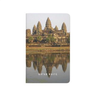 アンコール・ワットの反射のカンボジアの写真撮影ジャーナル ポケットジャーナル