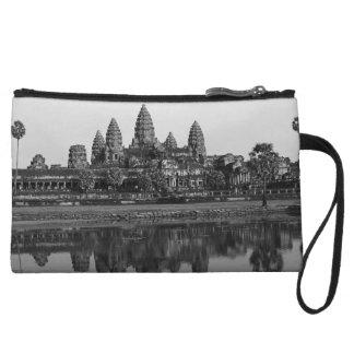 アンコール・ワットの反射のカンボジアの芸術の写真撮影 クラッチ