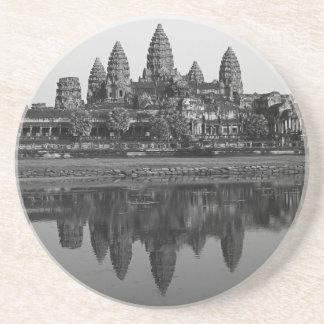 アンコール・ワットの寺院のカンボジアの写真の古代史 コースター