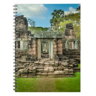 アンコール・ワットの寺院のカンボジアユネスコ ノートブック