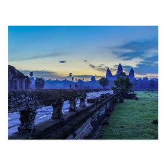 アンコール・ワットの寺院-カンボジアの郵便はがき ポストカード