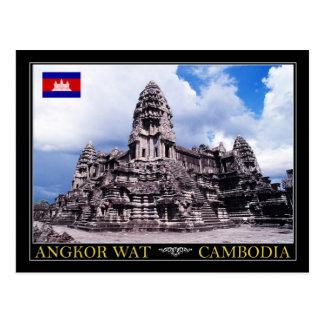 アンコール・ワットの寺院、カンボジア ポストカード