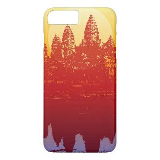 アンコール・ワットの日没のモダンなシルエットの芸術の日の出 iPhone 8 PLUS/7 PLUSケース