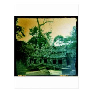 アンコール・ワットの近くのtaのprohmの寺院 ポストカード