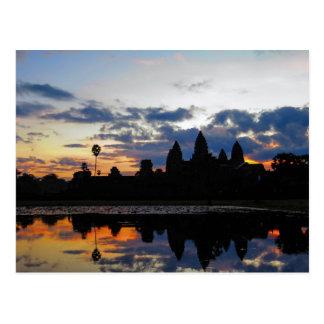 アンコール・ワット、カンボジア-郵便はがきの日の出 ポストカード