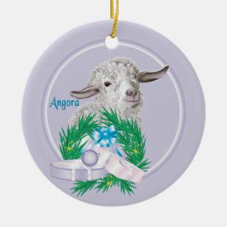 アンゴラのヤギのリースの休日のオーナメント セラミックオーナメント