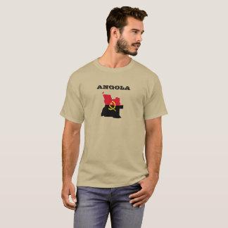 アンゴラの地図の旗のワイシャツ Tシャツ