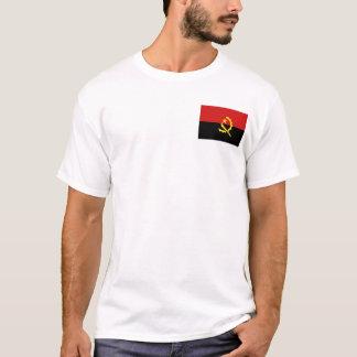 アンゴラの旗および地図のTシャツ Tシャツ