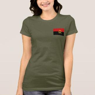 アンゴラの旗および地図dkのTシャツ Tシャツ