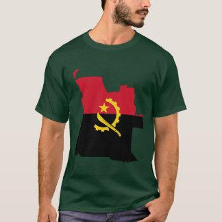 アンゴラの旗の地図 Tシャツ