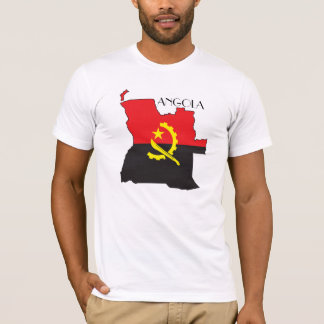 アンゴラの旗地図のワイシャツ Tシャツ