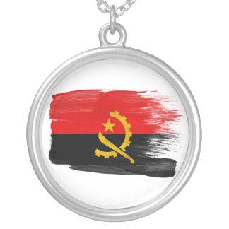 アンゴラの旗 シルバープレートネックレス