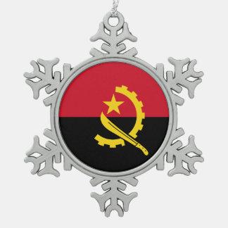 アンゴラの旗 スノーフレークピューターオーナメント