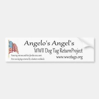 アンジェロの天使WWIIのドッグタッグのリターンプロジェクト バンパーステッカー