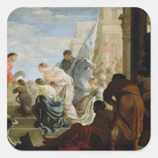 アンソニーおよびCleopatra、c.1645の会合 スクエアシール