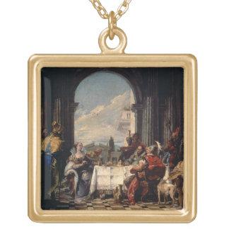 アンソニーおよびCleopatra、c.1744 (油の宴会 ゴールドプレートネックレス