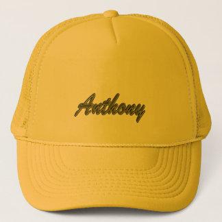 アンソニーの無地ので黄色いスタイルのトラック運転手の帽子 キャップ