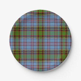 アンダーソンのスコットランド人のタータンチェック ペーパープレート