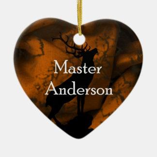 アンダーソンのマスターのオーナメント 陶器製ハート型オーナメント